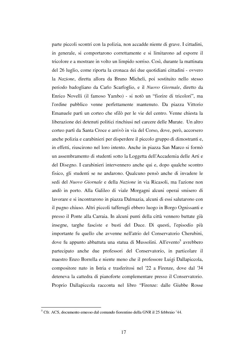 Anteprima della tesi: Vita quotidiana a Firenze nei mesi della Repubblica Sociale Italiana, Pagina 14