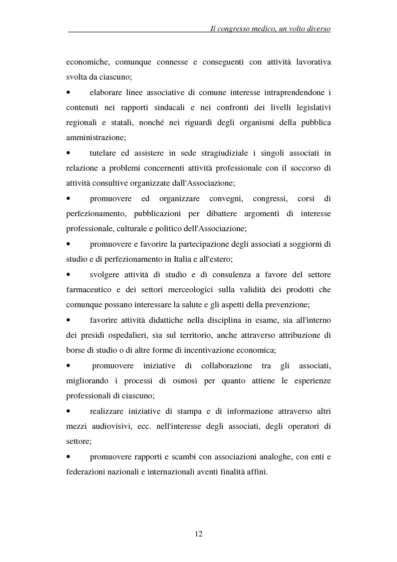 Anteprima della tesi: Associazioni e società medico-scientifiche in Piemonte: realtà congressuale e target strategico, Pagina 12