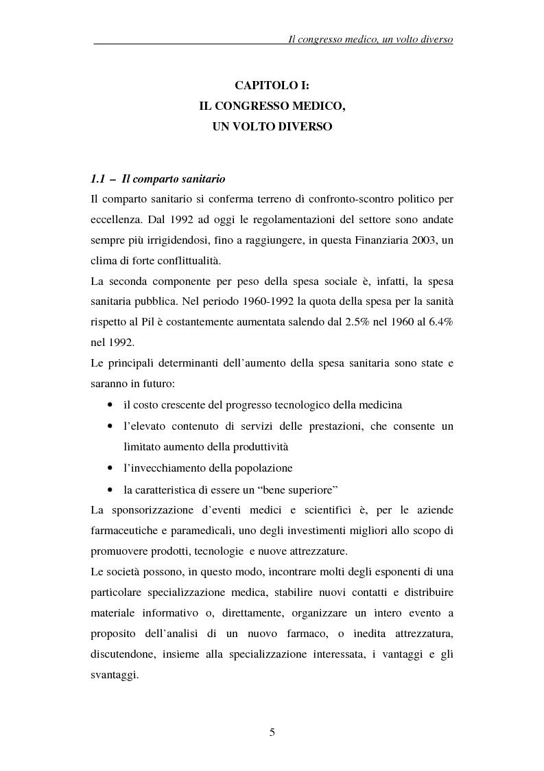 Anteprima della tesi: Associazioni e società medico-scientifiche in Piemonte: realtà congressuale e target strategico, Pagina 5