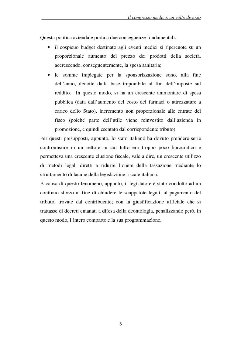 Anteprima della tesi: Associazioni e società medico-scientifiche in Piemonte: realtà congressuale e target strategico, Pagina 6