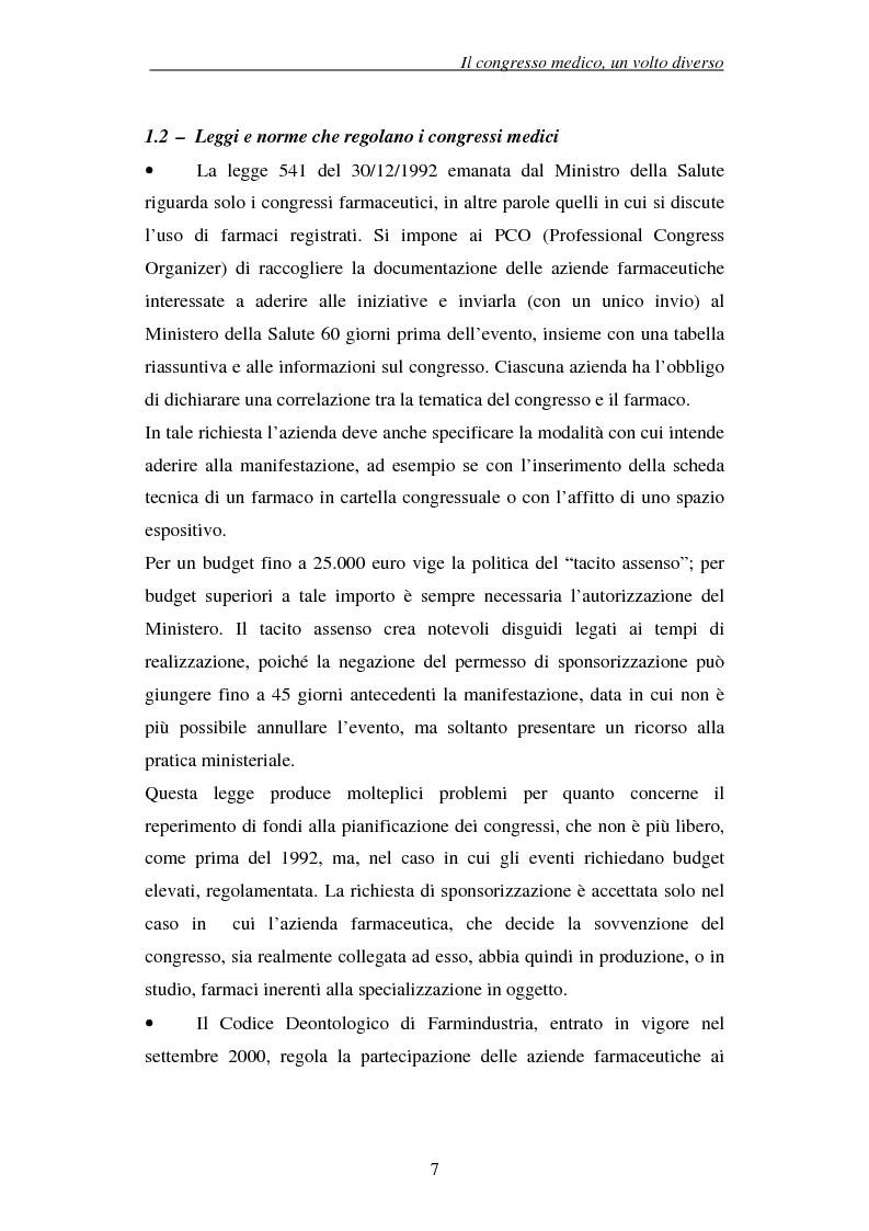 Anteprima della tesi: Associazioni e società medico-scientifiche in Piemonte: realtà congressuale e target strategico, Pagina 7
