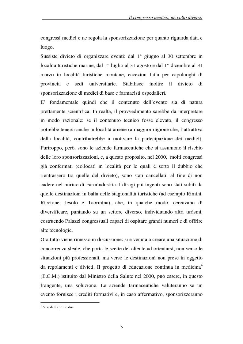 Anteprima della tesi: Associazioni e società medico-scientifiche in Piemonte: realtà congressuale e target strategico, Pagina 8