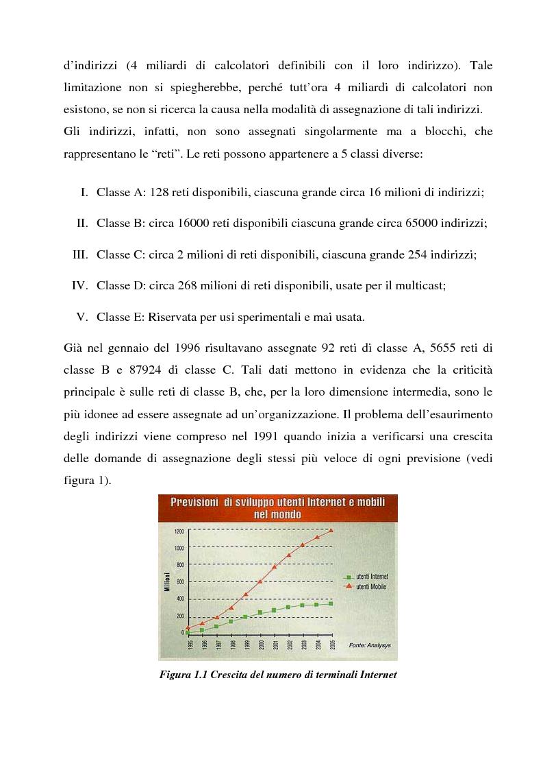 Anteprima della tesi: Realizzazione e sperimentazione di un trial IPv6 con supporto della mobilità, Pagina 5
