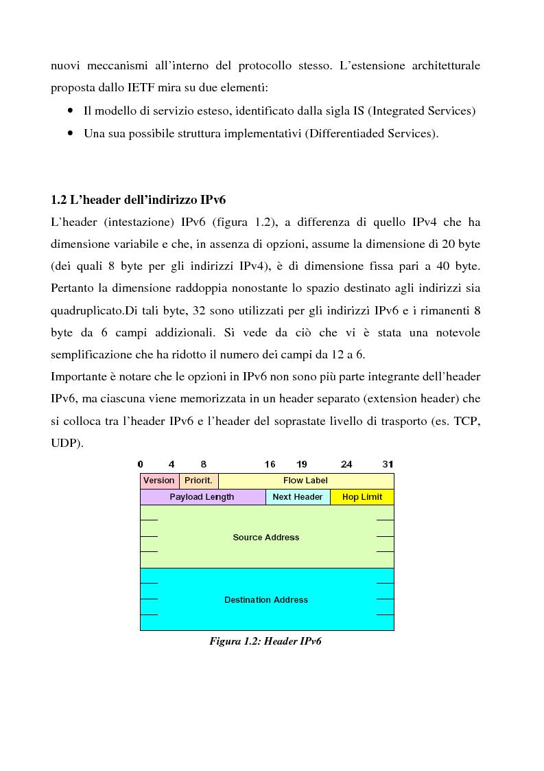 Anteprima della tesi: Realizzazione e sperimentazione di un trial IPv6 con supporto della mobilità, Pagina 8