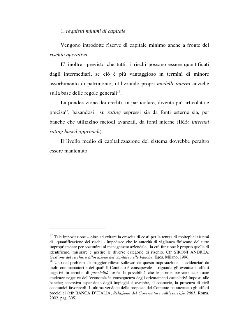 Anteprima della tesi: La gestione dei rischi operativi nelle aziende di credito - Linee evolutive nella prospettiva del ''Nuovo Accordo di Basilea'', Pagina 12