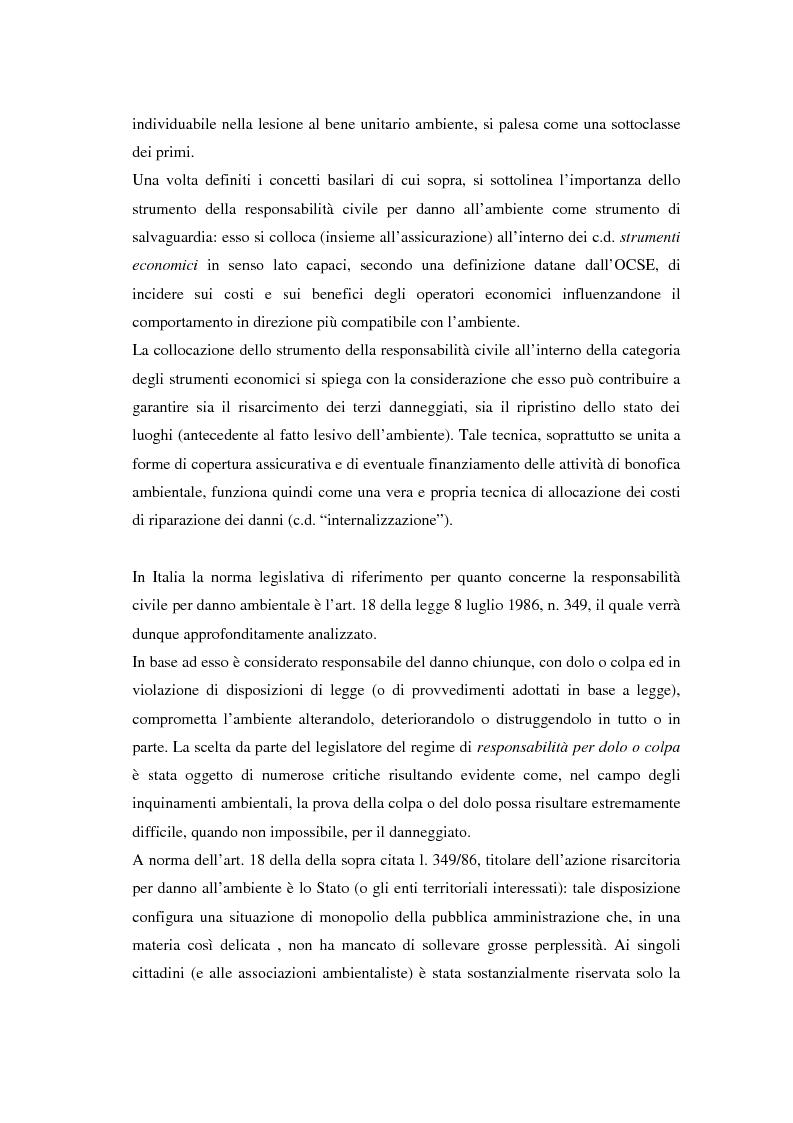 Anteprima della tesi: Il danno ambientale: sistemi di valutazione metodi di ripristino, Pagina 3