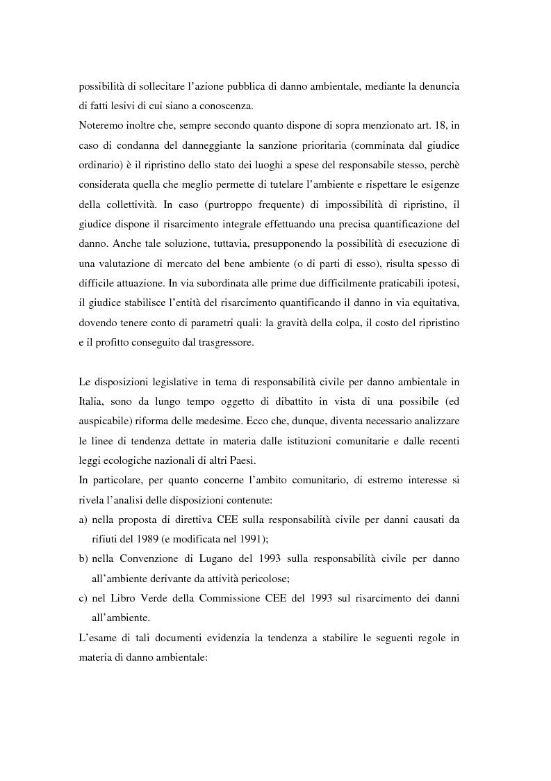 Anteprima della tesi: Il danno ambientale: sistemi di valutazione metodi di ripristino, Pagina 4