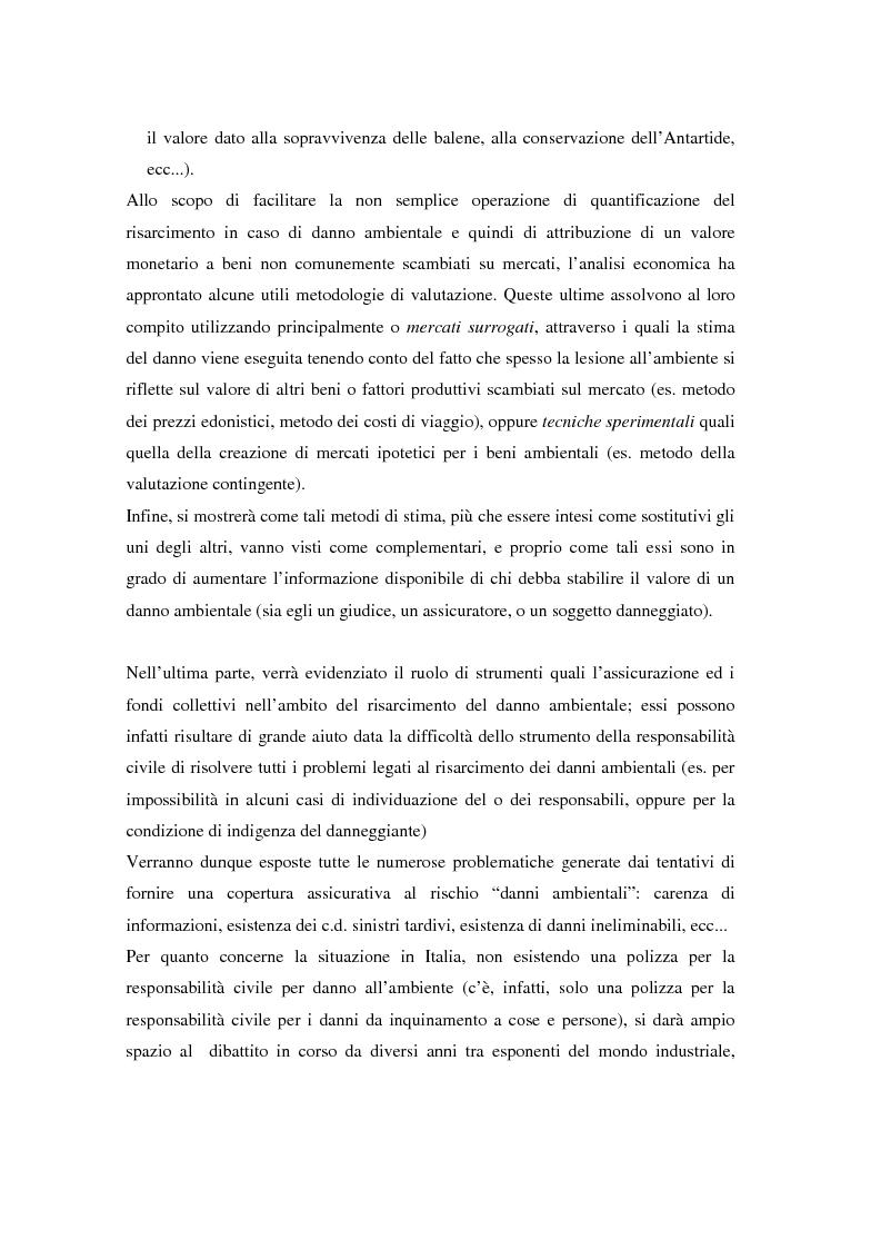 Anteprima della tesi: Il danno ambientale: sistemi di valutazione metodi di ripristino, Pagina 6