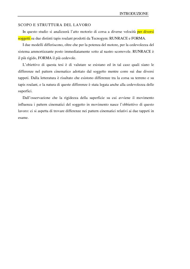 Anteprima della tesi: Analisi del cammino su tapis roulant: influenza della cedevolezza del tappeto, Pagina 4