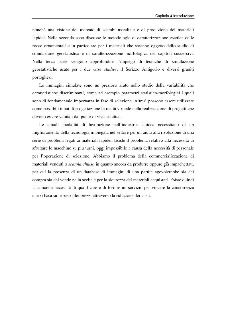 Anteprima della tesi: Nuovi strumenti per la valorizzazione estetica delle rocce ornamentali, Pagina 10
