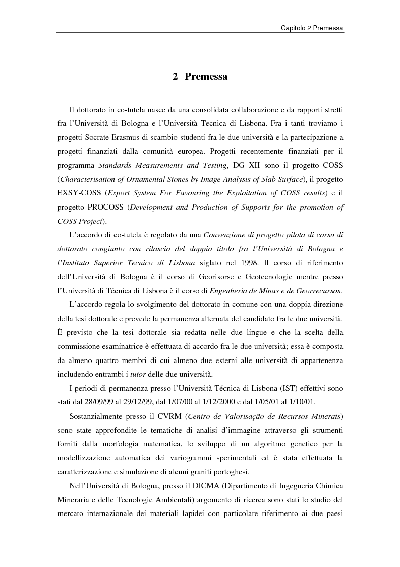 Anteprima della tesi: Nuovi strumenti per la valorizzazione estetica delle rocce ornamentali, Pagina 3