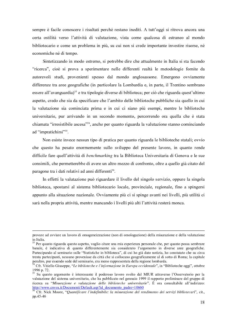 Anteprima della tesi: Materiali biblioteconomici per la nuova biblioteca universitaria di Genova. Avvio di un'indagine, Pagina 15