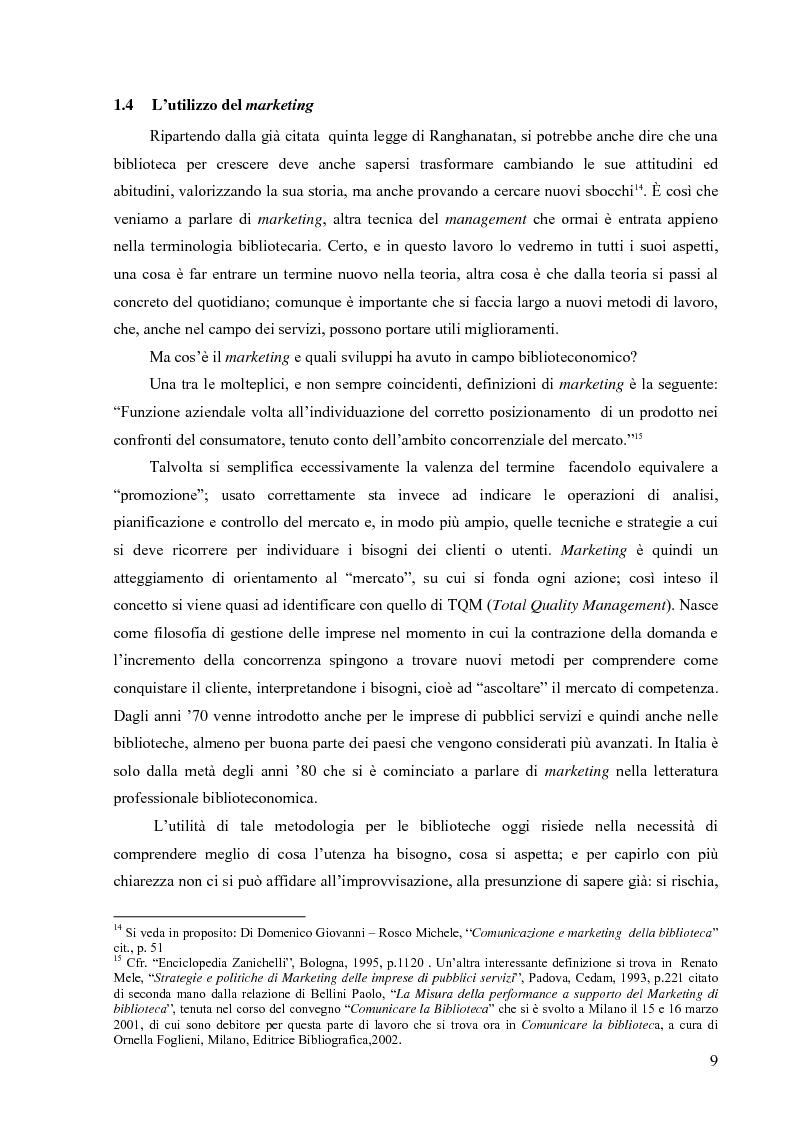 Anteprima della tesi: Materiali biblioteconomici per la nuova biblioteca universitaria di Genova. Avvio di un'indagine, Pagina 6