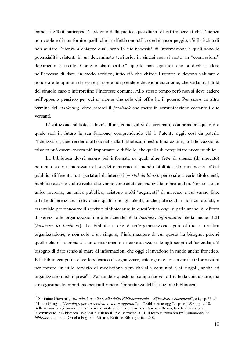 Anteprima della tesi: Materiali biblioteconomici per la nuova biblioteca universitaria di Genova. Avvio di un'indagine, Pagina 7