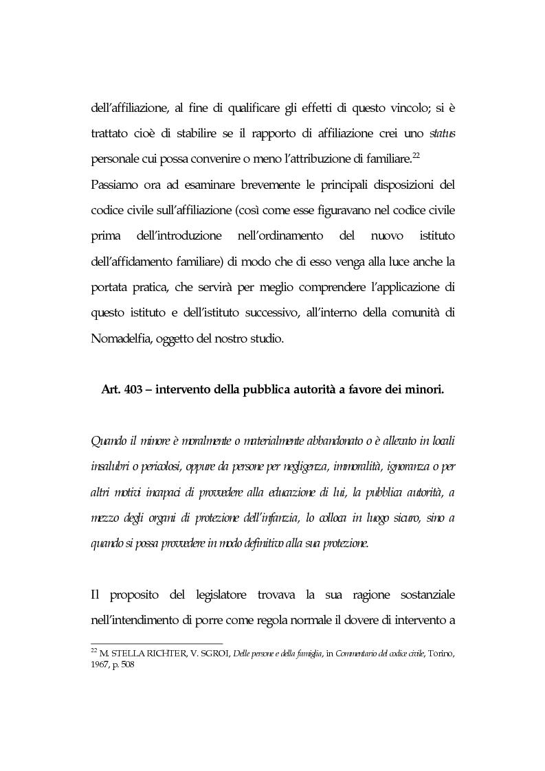 Anteprima della tesi: L'affidamento familiare: l'esperienza della comunità di Nomadelfia, Pagina 14