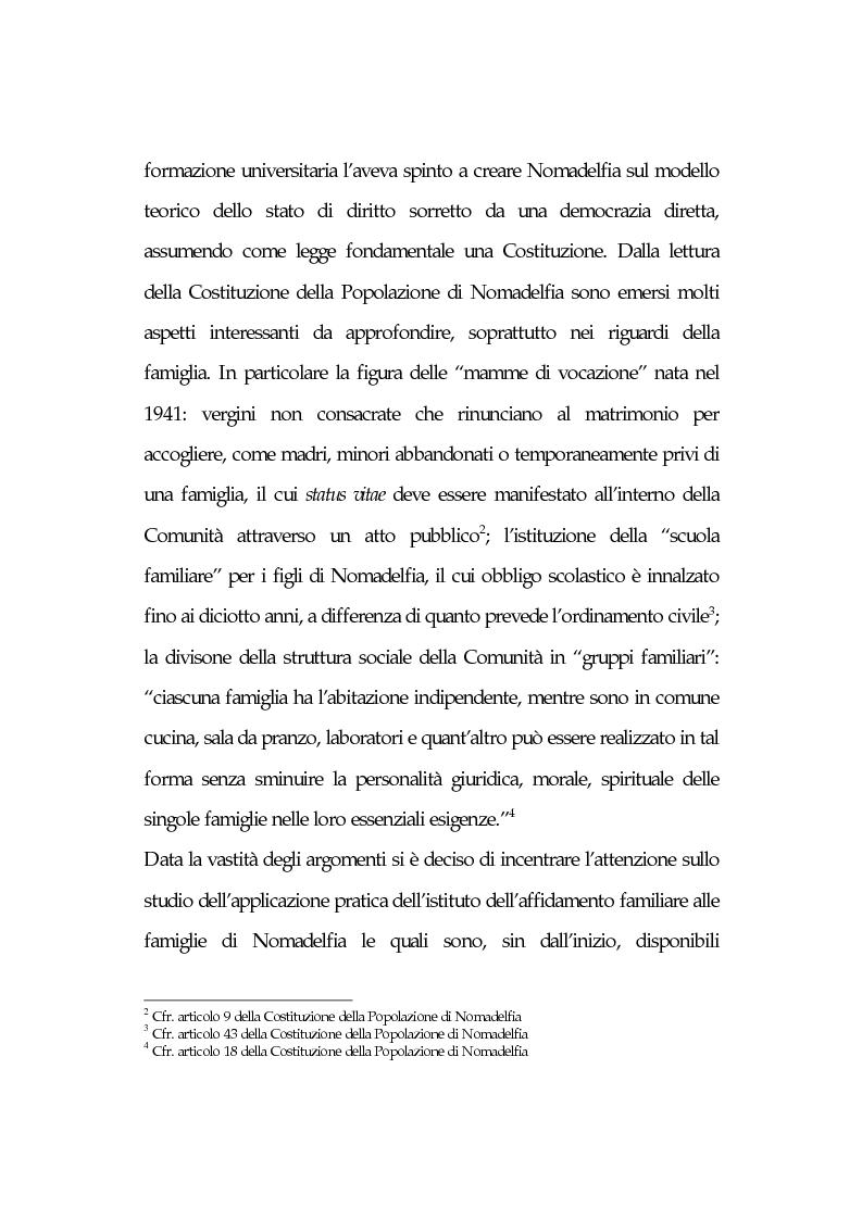 Anteprima della tesi: L'affidamento familiare: l'esperienza della comunità di Nomadelfia, Pagina 2