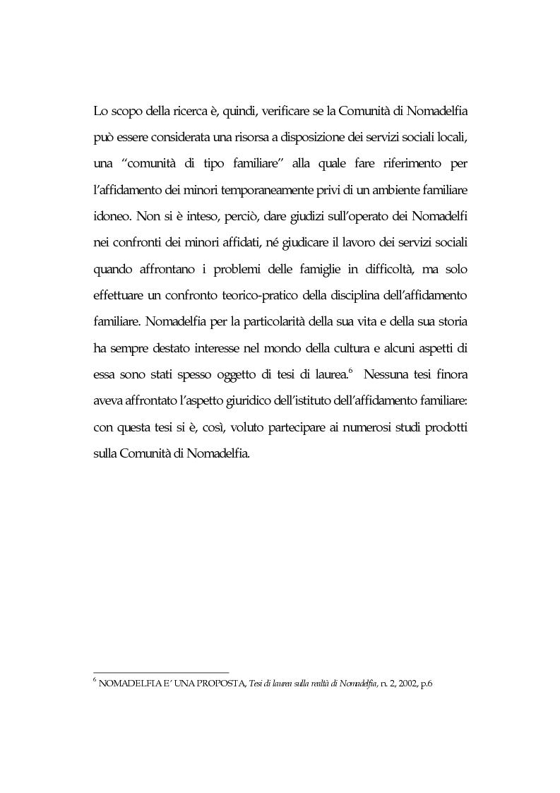 Anteprima della tesi: L'affidamento familiare: l'esperienza della comunità di Nomadelfia, Pagina 4