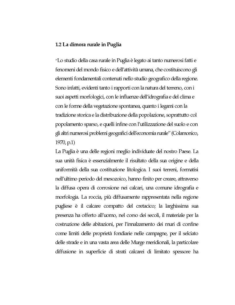 Anteprima della tesi: Vecchie strutture e nuove funzioni per uno sviluppo autocentrato: le masserie di Ostuni (Br), Pagina 11