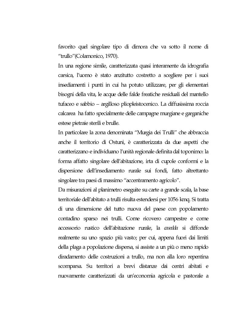 Anteprima della tesi: Vecchie strutture e nuove funzioni per uno sviluppo autocentrato: le masserie di Ostuni (Br), Pagina 12