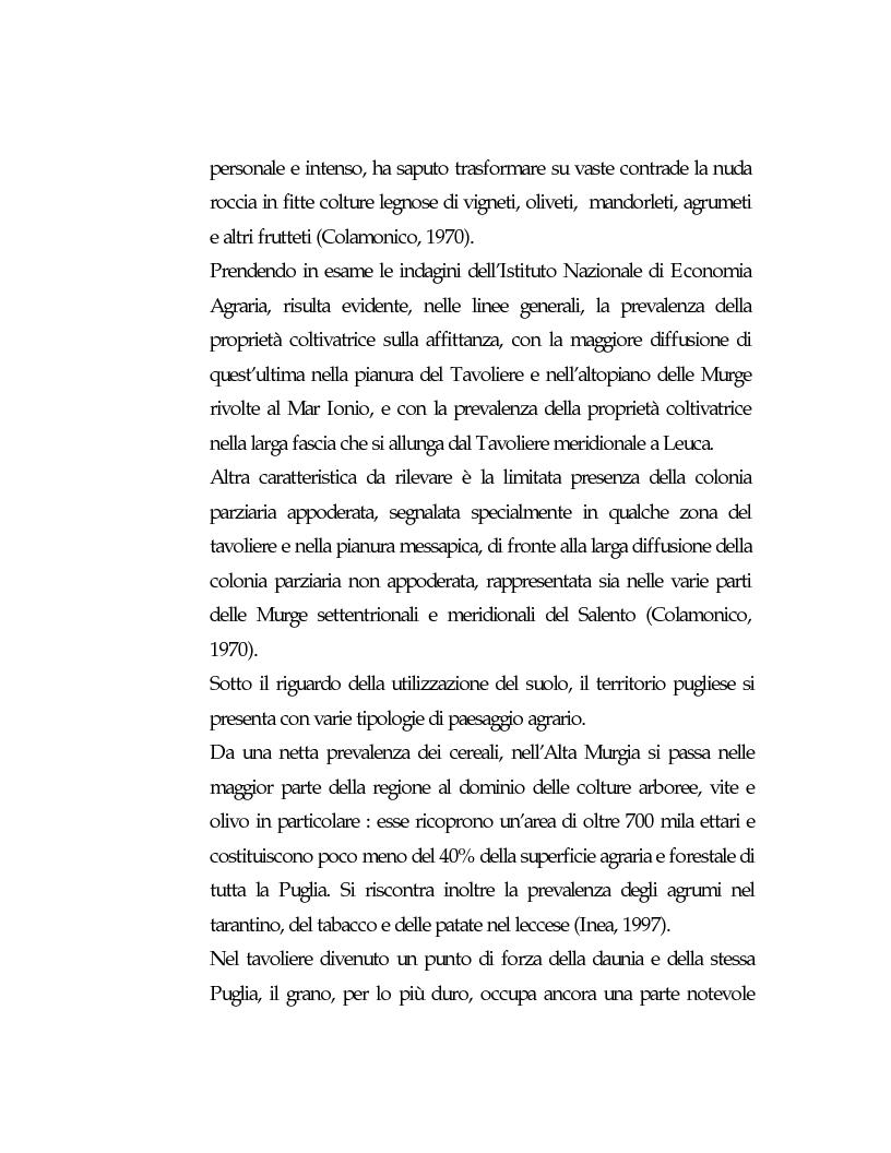 Anteprima della tesi: Vecchie strutture e nuove funzioni per uno sviluppo autocentrato: le masserie di Ostuni (Br), Pagina 7