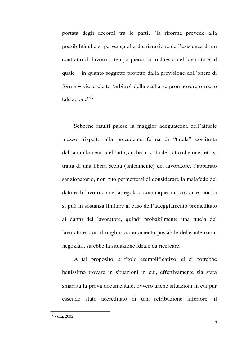 Anteprima della tesi: La disciplina del lavoro a tempo parziale: il d. lgs. n. 61 del 2000, Pagina 12