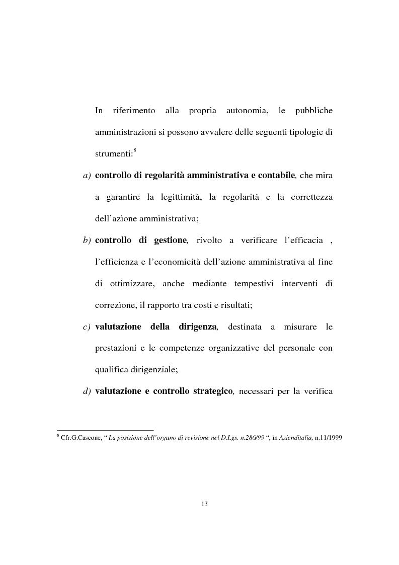 Anteprima della tesi: Il ruolo dell'organo di revisione negli enti locali, Pagina 10
