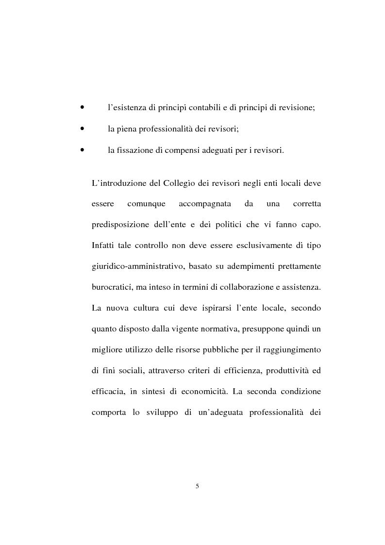 Anteprima della tesi: Il ruolo dell'organo di revisione negli enti locali, Pagina 2