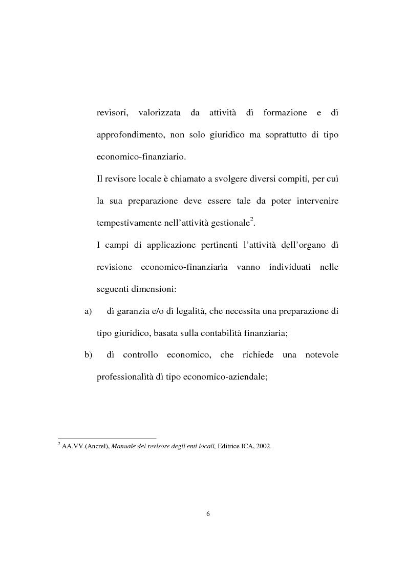 Anteprima della tesi: Il ruolo dell'organo di revisione negli enti locali, Pagina 3