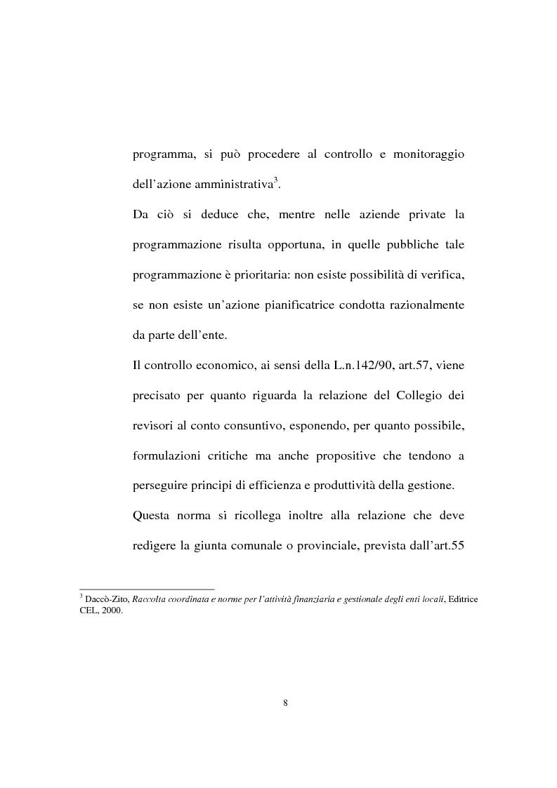 Anteprima della tesi: Il ruolo dell'organo di revisione negli enti locali, Pagina 5