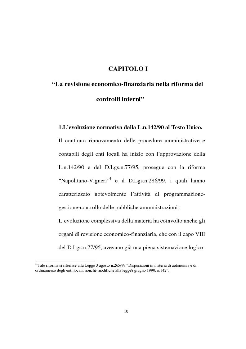 Anteprima della tesi: Il ruolo dell'organo di revisione negli enti locali, Pagina 7