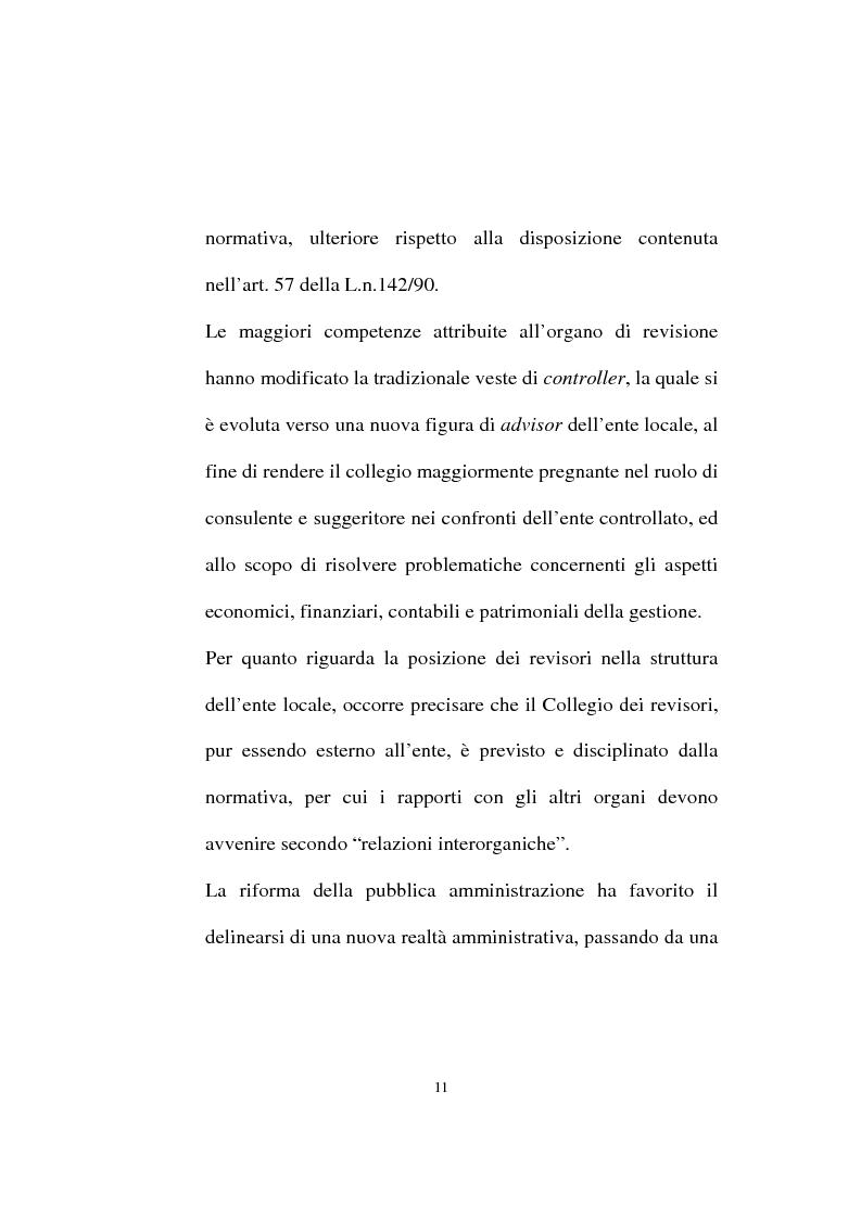 Anteprima della tesi: Il ruolo dell'organo di revisione negli enti locali, Pagina 8