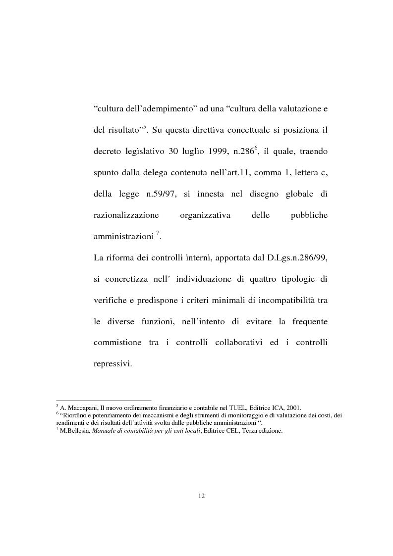 Anteprima della tesi: Il ruolo dell'organo di revisione negli enti locali, Pagina 9