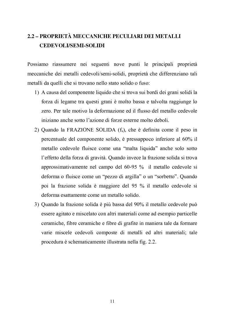 Anteprima della tesi: Procedimenti di tixoformatura di leghe metalliche per componenti automobilistici, Pagina 10