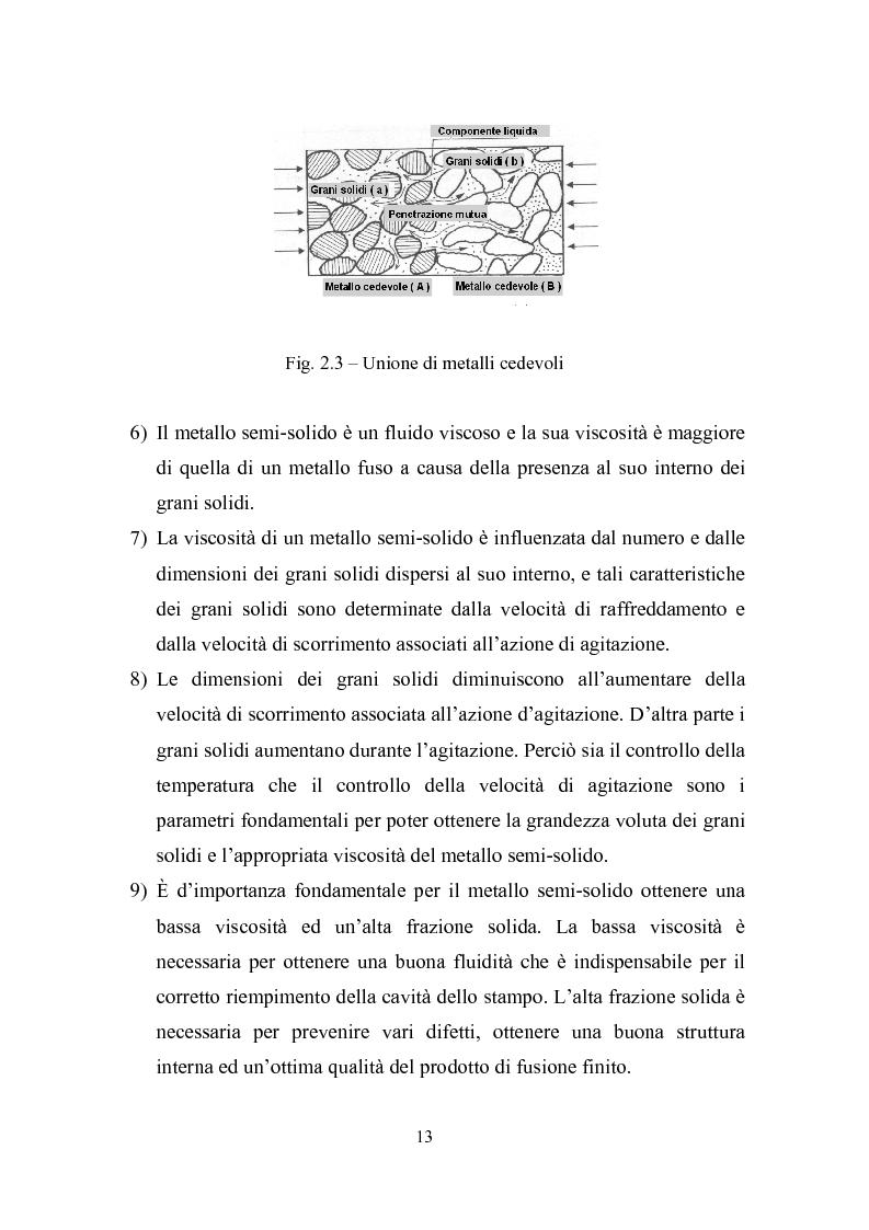 Anteprima della tesi: Procedimenti di tixoformatura di leghe metalliche per componenti automobilistici, Pagina 12