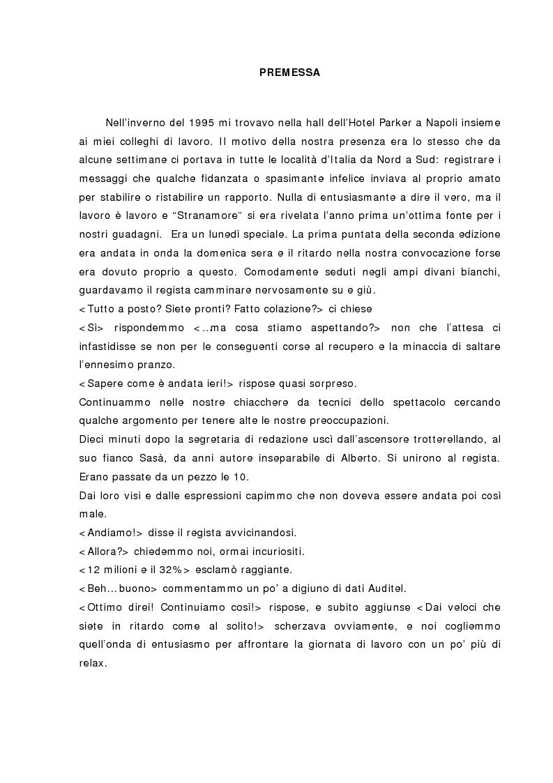 Anteprima della tesi: La Tv dell'Auditel, Pagina 1