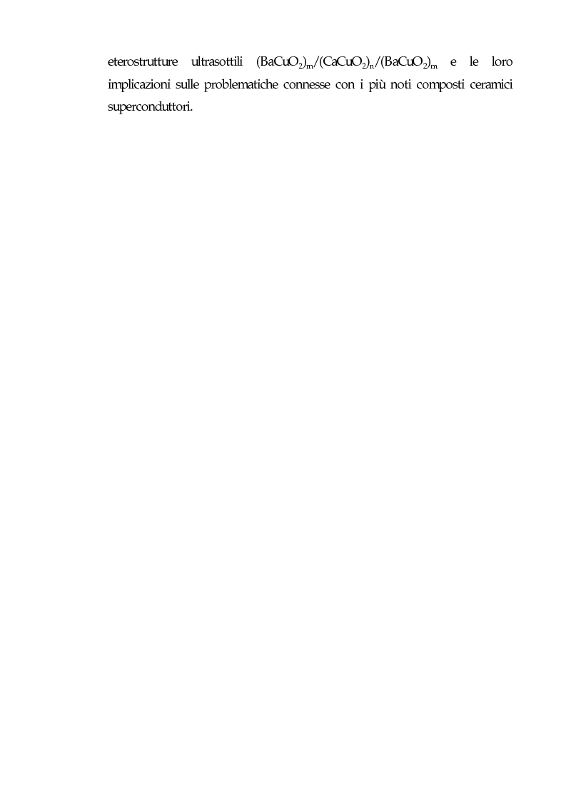 Anteprima della tesi: Realizzazione di eterostrutture epitassiali tramite fotodeposizione laser di ossidi superconduttori per applicazioni alla microelettronica, Pagina 3