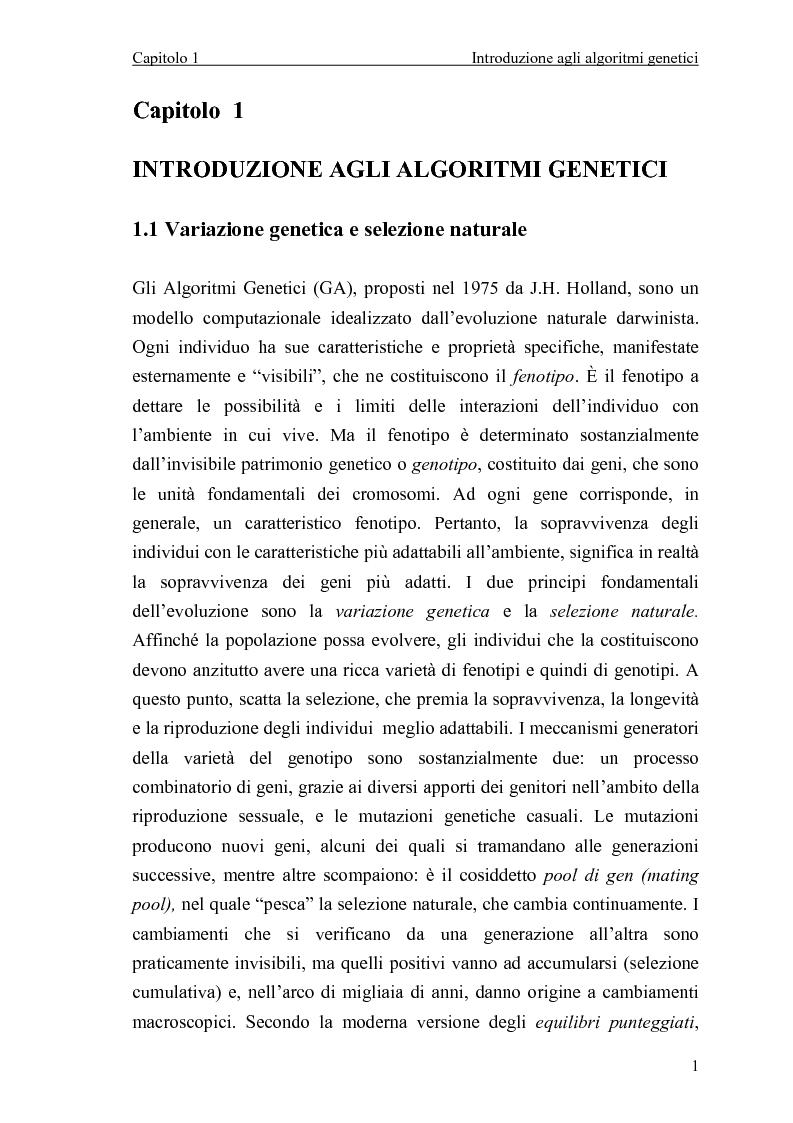 Anteprima della tesi: Algoritmo genetico per il problema del set covering, Pagina 3