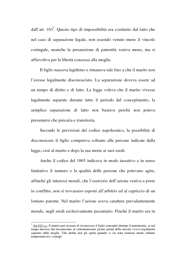 Anteprima della tesi: Il disconoscimento di paternità, Pagina 12