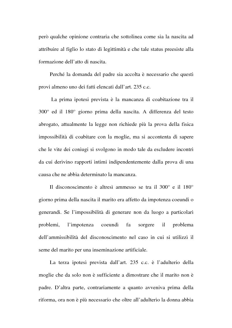 Anteprima della tesi: Il disconoscimento di paternità, Pagina 3