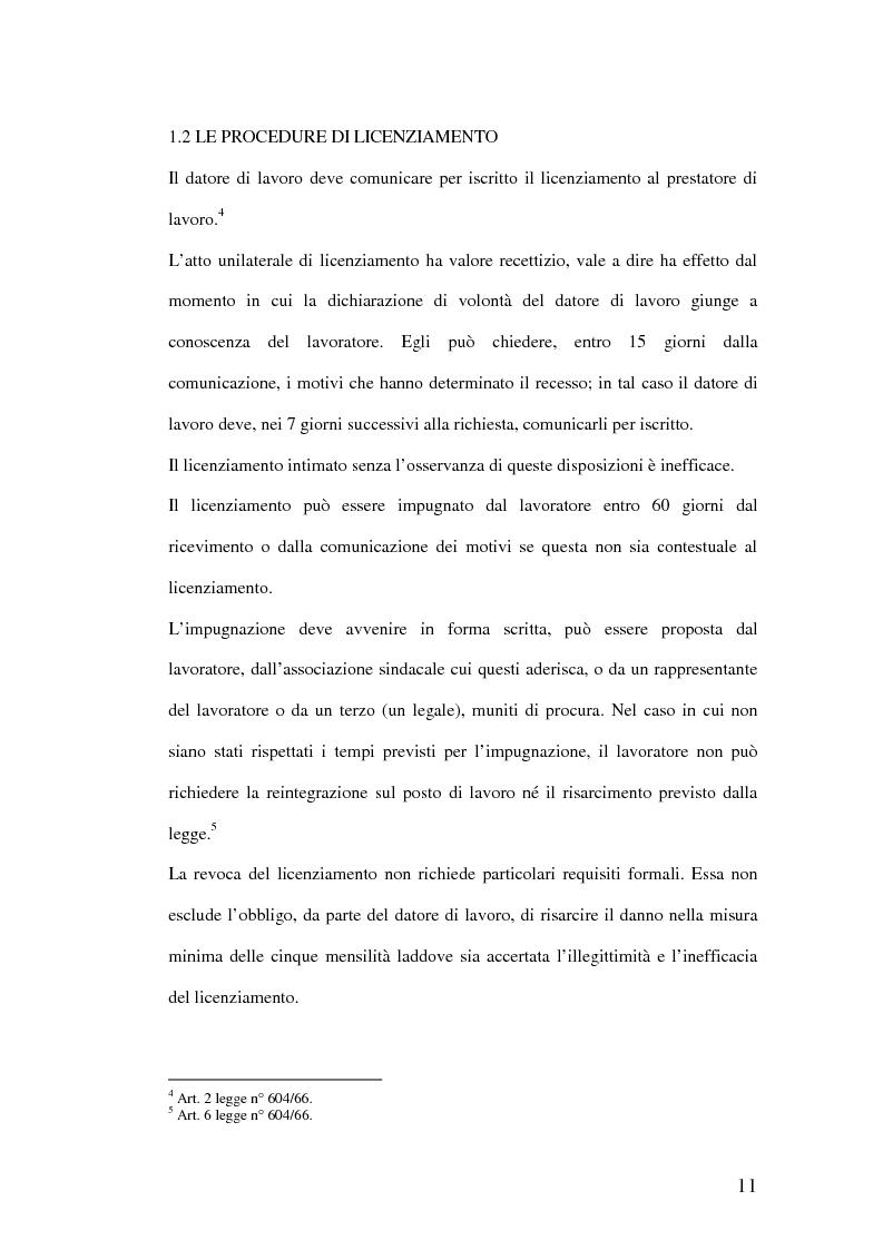 Anteprima della tesi: Riqualificazione professionale e ricollocazione del personale in esubero: outplacement individuale e collettivo, Pagina 11