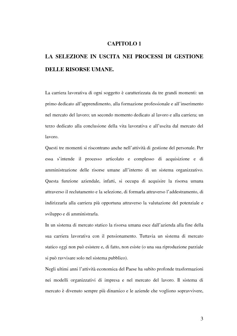 Anteprima della tesi: Riqualificazione professionale e ricollocazione del personale in esubero: outplacement individuale e collettivo, Pagina 3
