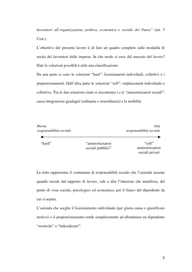 Anteprima della tesi: Riqualificazione professionale e ricollocazione del personale in esubero: outplacement individuale e collettivo, Pagina 5