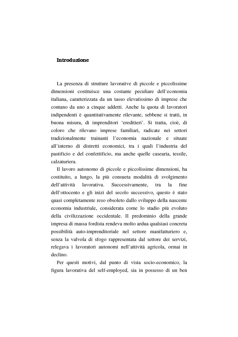 Anteprima della tesi: La costruzione dell'auto-imprenditorialità: professionalità e formazione dei nuovi self-employed, Pagina 1