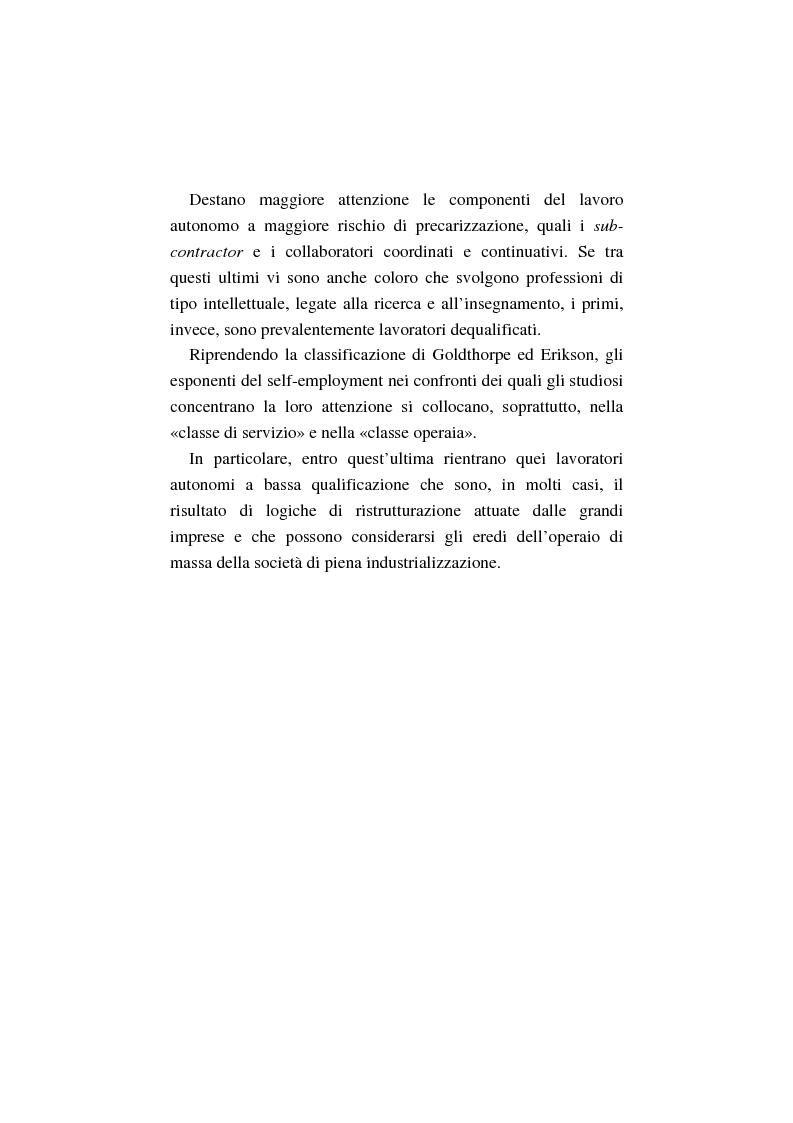 Anteprima della tesi: La costruzione dell'auto-imprenditorialità: professionalità e formazione dei nuovi self-employed, Pagina 12