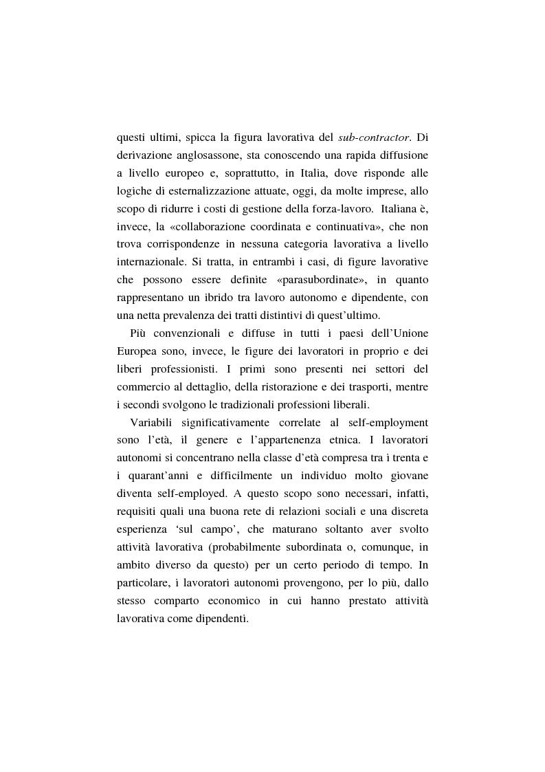 Anteprima della tesi: La costruzione dell'auto-imprenditorialità: professionalità e formazione dei nuovi self-employed, Pagina 9