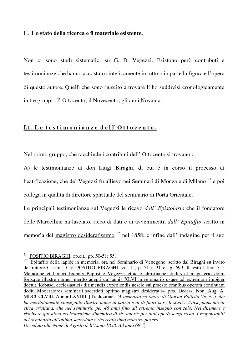 Anteprima della tesi: Don Giovan Battista Vegezzi (Laveno 1789-1858). Note storico-biografiche, Pagina 7