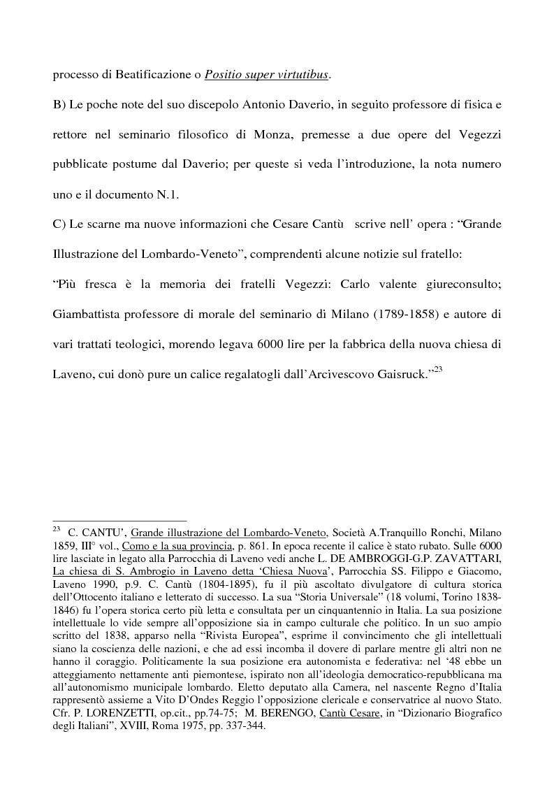 Anteprima della tesi: Don Giovan Battista Vegezzi (Laveno 1789-1858). Note storico-biografiche, Pagina 8