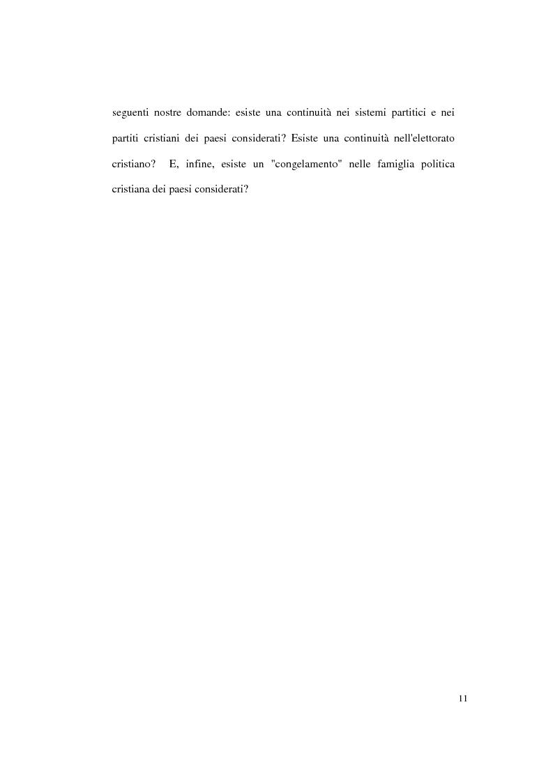 Anteprima della tesi: Continuità e discontinuità dei sistemi partitici e dei partiti cristiani in Polonia, Ungheria e Cecoslovacchia, Pagina 11