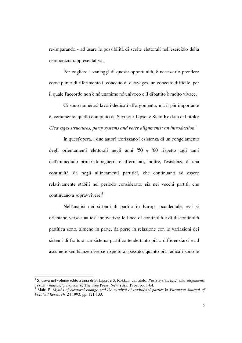 Anteprima della tesi: Continuità e discontinuità dei sistemi partitici e dei partiti cristiani in Polonia, Ungheria e Cecoslovacchia, Pagina 2