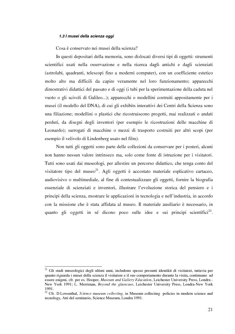 Anteprima della tesi: I musei della scienza e l'ambiente Internet, Pagina 10